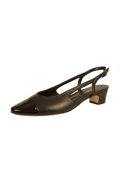 Vaneli Black Captoe Slingback - Alternate List Image