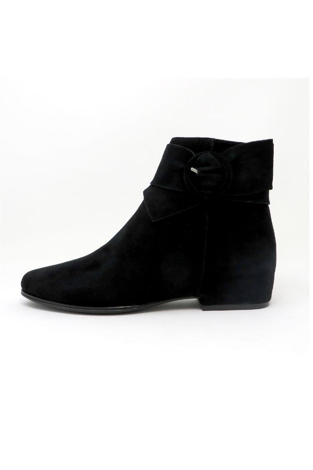 Vaneli Black Suede Bootie - Front Cropped Image