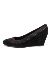 Vaneli Black Suede Wedge - Front cropped