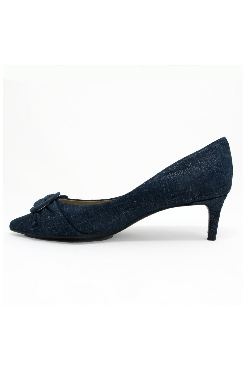 Vaneli Blue Denim Heel - Front Full Image