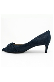 Vaneli Blue Denim Heel - Front full body