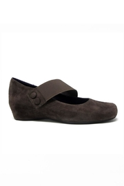 Vaneli Brown Suede Wedge - Front cropped