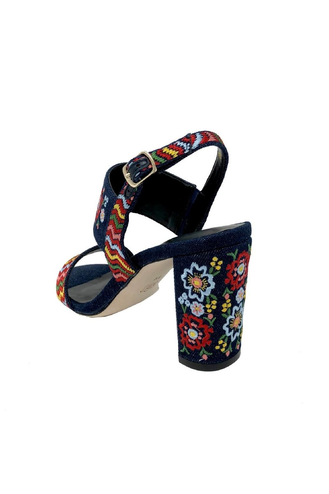 Vaneli Denim Embroidered Heel - Front Full Image