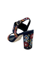 Vaneli Denim Embroidered Heel - Front full body