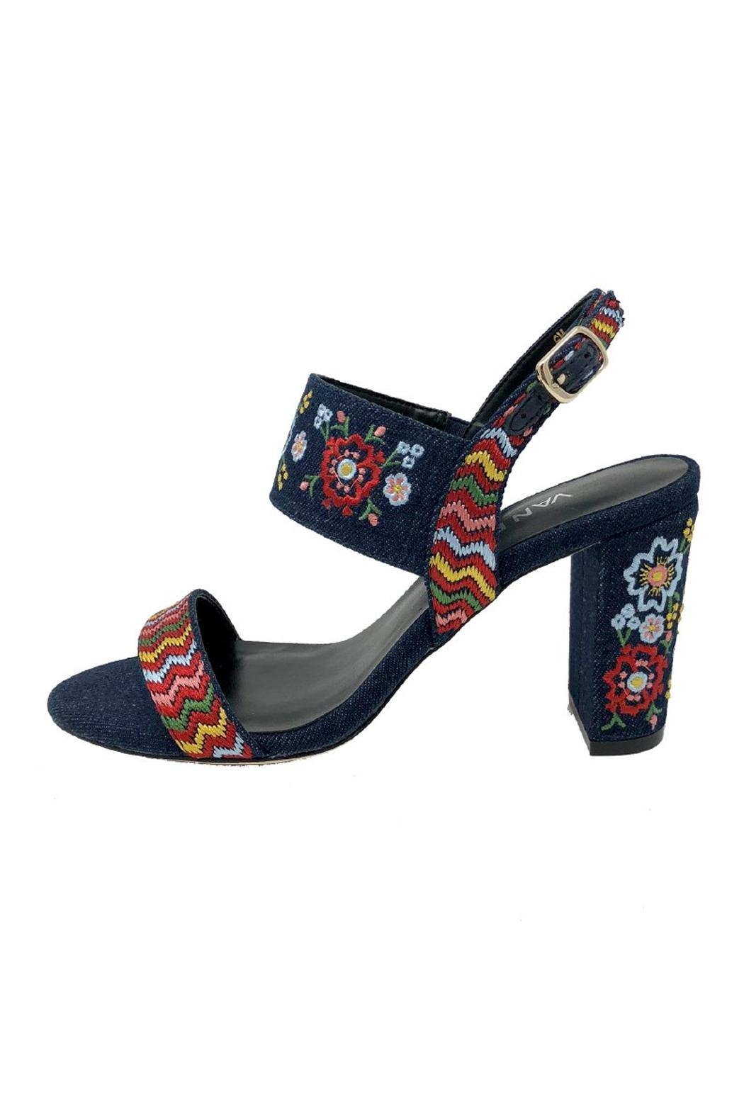 Vaneli Denim Embroidered Heel - Main Image