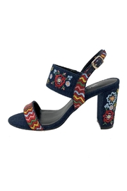 Vaneli Denim Embroidered Heel - Product Mini Image