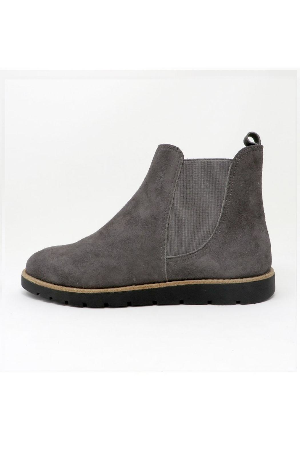 Vaneli Grey Short Boot - Front Cropped Image
