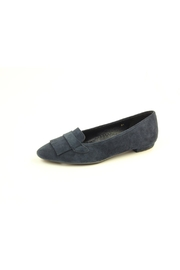 Vaneli Navy Suede Flat - Front cropped