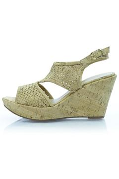 Shoptiques Product: Nude Cork Wedge