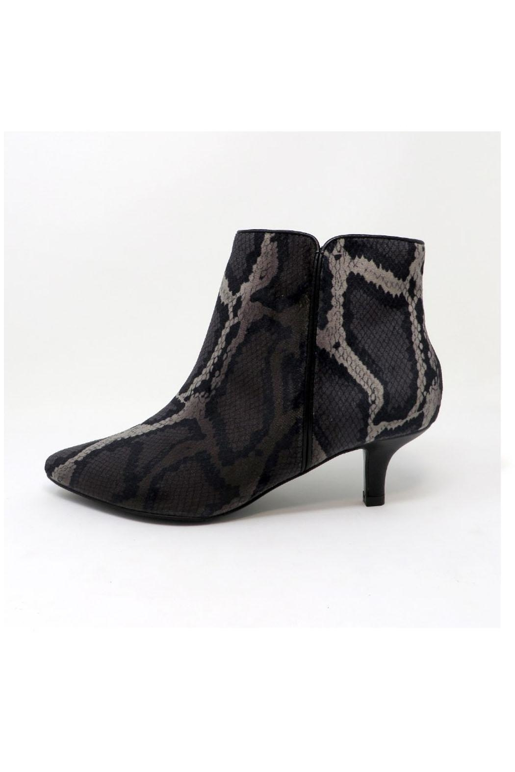 Vaneli Snake Print Bootie - Front Cropped Image