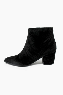 Vaneli Velvet Textured Booties - Product List Image