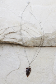 Vanessa Mooney Silver Arrowhead Necklace - Product Mini Image
