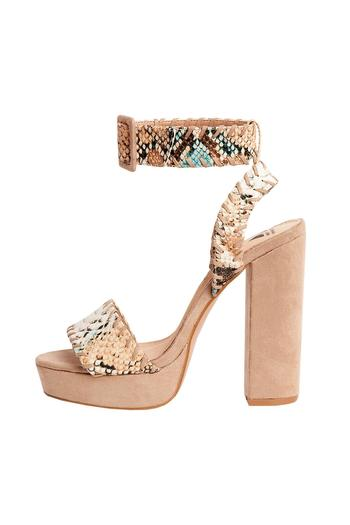 93dbd917057 Vanessa Wu Python Printed Sandals from Netherlands by FashionFarm —  Shoptiques