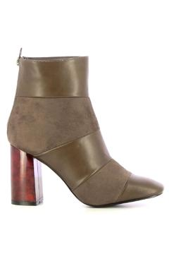 Shoptiques Product: Taupe Bottines Wood