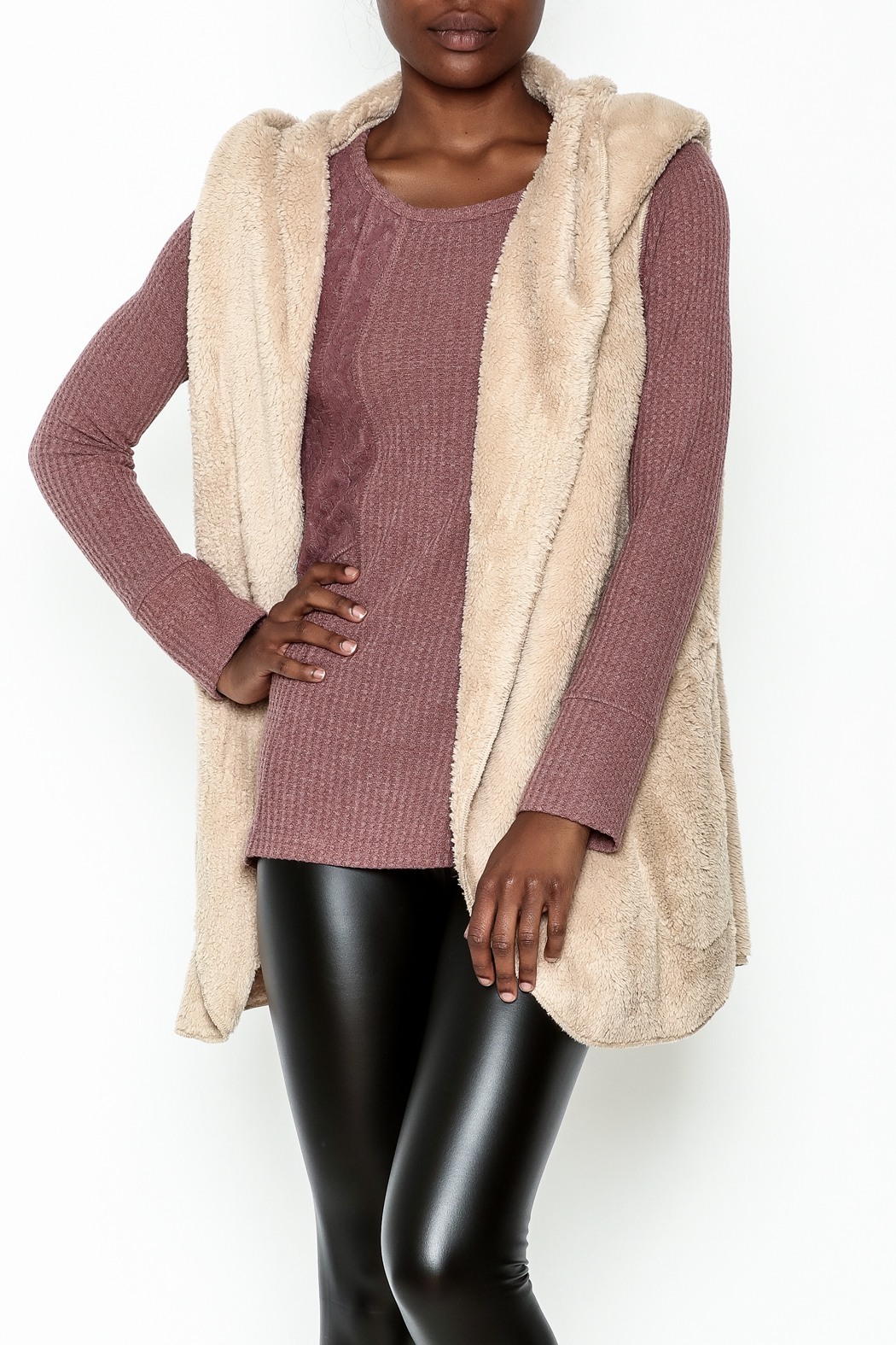 vanilla bay Fuzzy Hooded Vest from Wyckoff by Bedford Basket ...