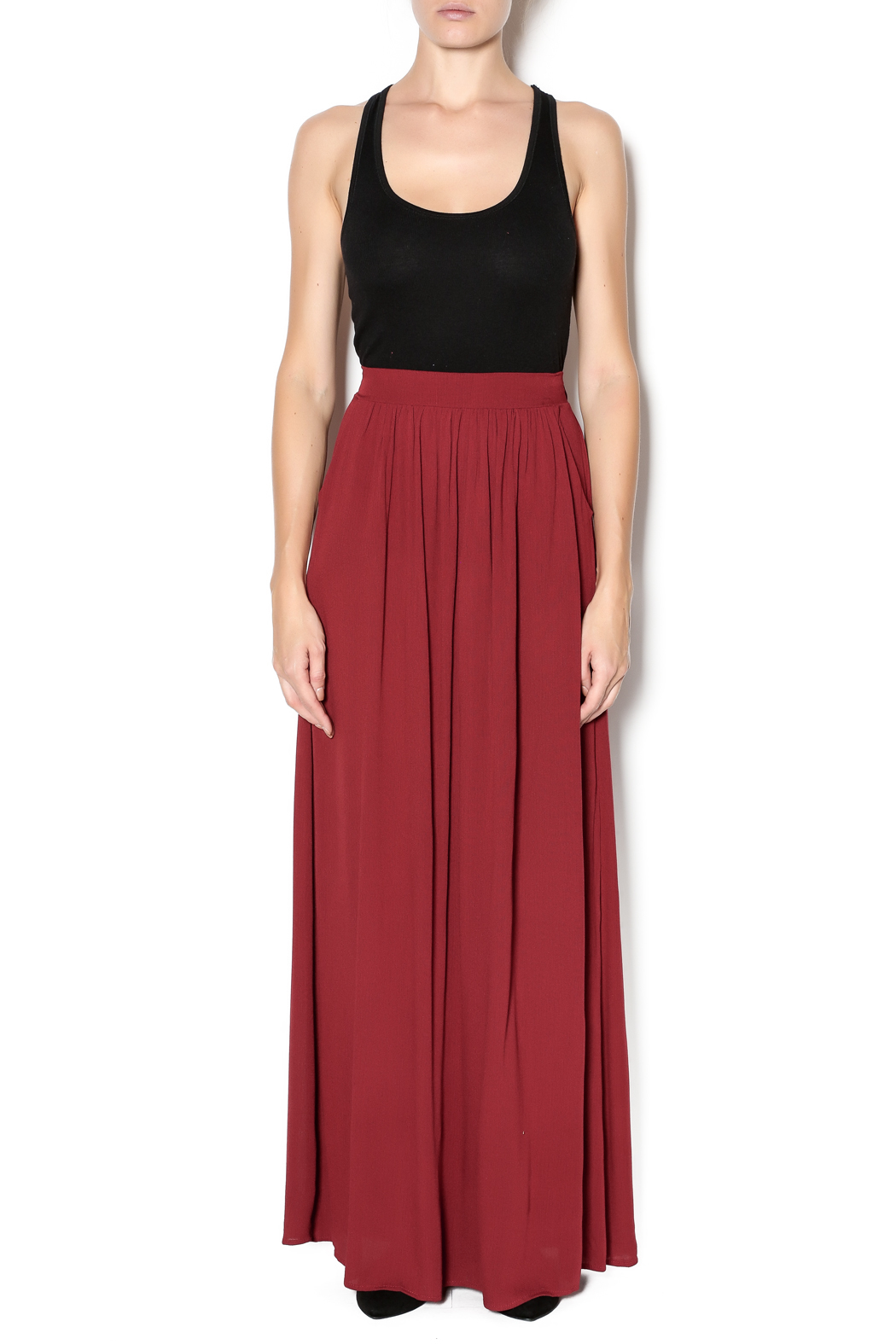 vanilla bay Maroon Maxi Skirt from Tennessee by Southern Muse ...