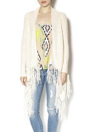 Double Zero Vanilla Fringed Cardigan - Product Mini Image