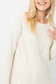 Cozy Casual Vanilla Hi-Low Sweater - Product Mini Image