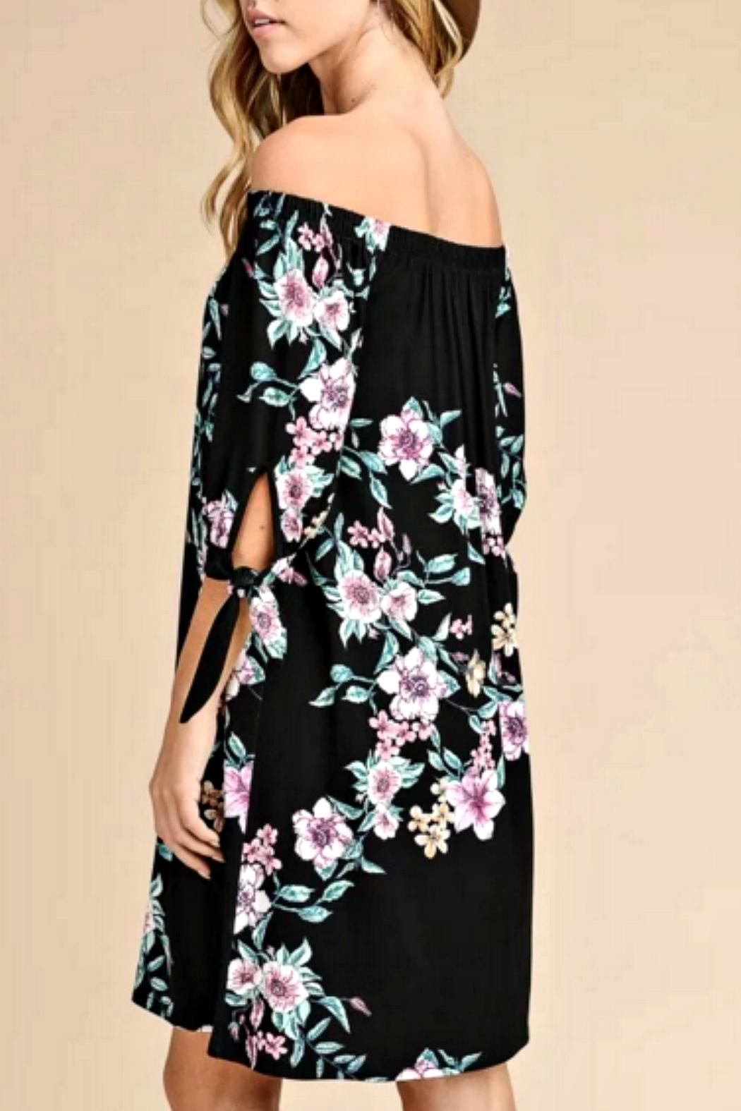 vanilla bay Black Floral Dress - Front Full Image