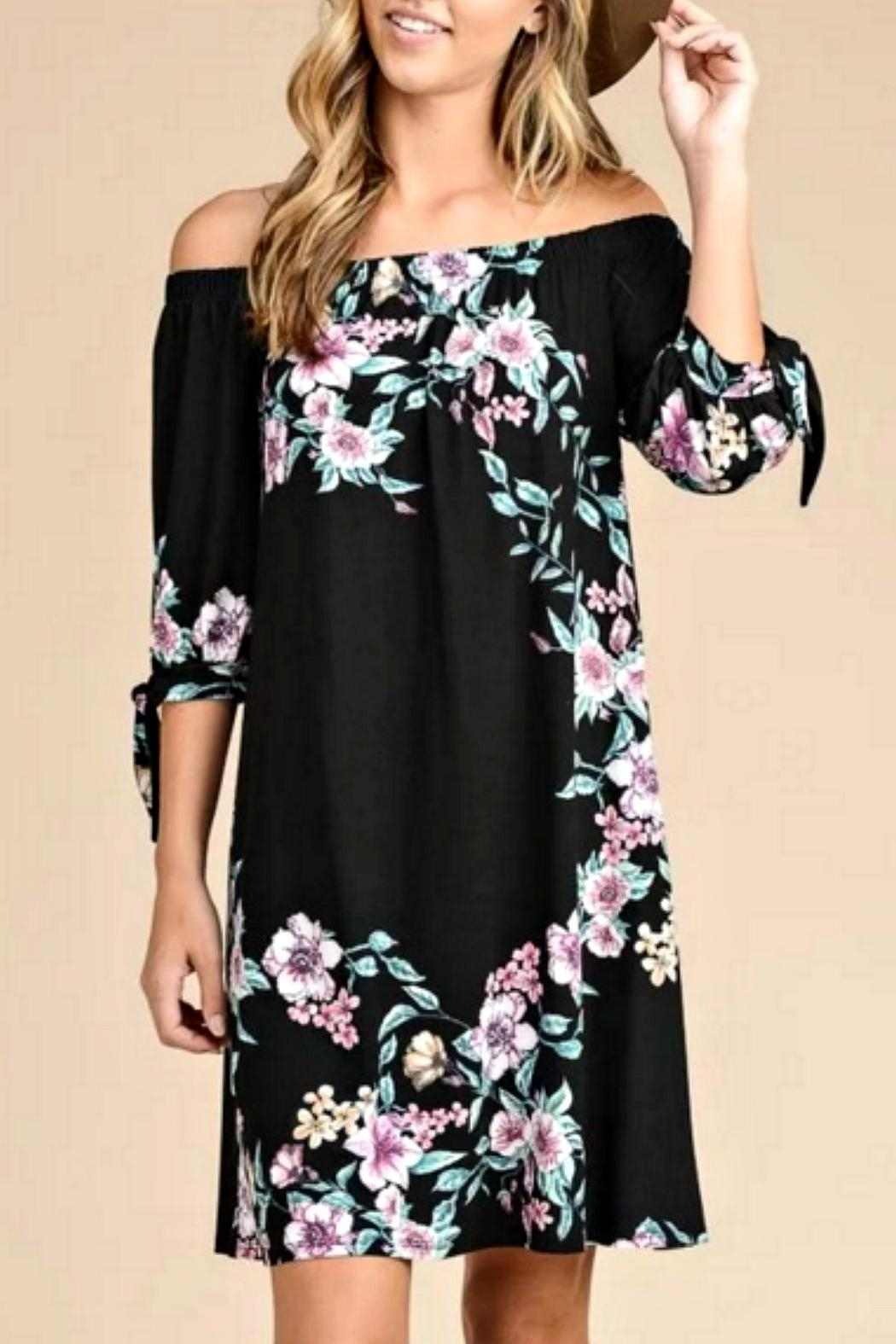 vanilla bay Black Floral Dress - Main Image