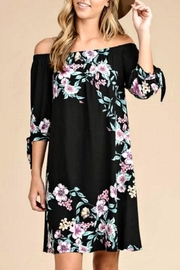 vanilla bay Black Floral Dress - Front cropped