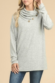 vanilla bay Button-Detail Tunic Top - Front cropped