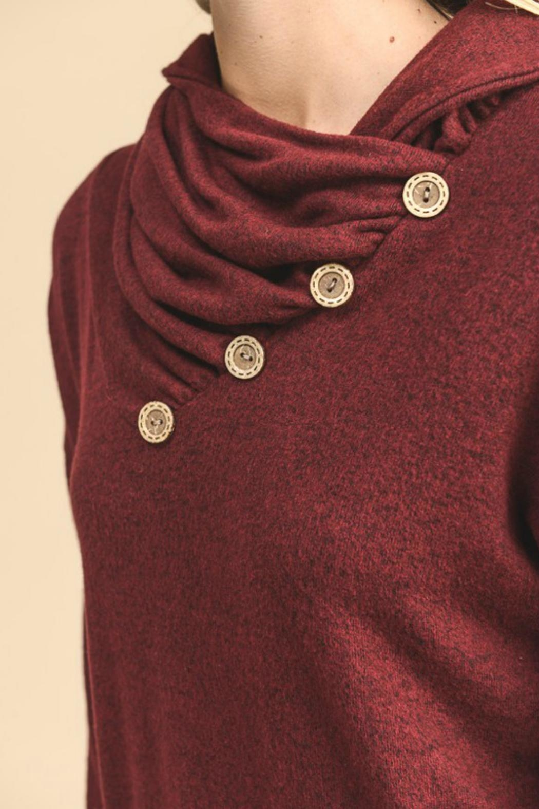vanilla bay Button-Detail Tunic Top - Back Cropped Image