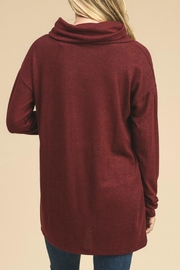 vanilla bay Button-Detail Tunic Top - Front full body