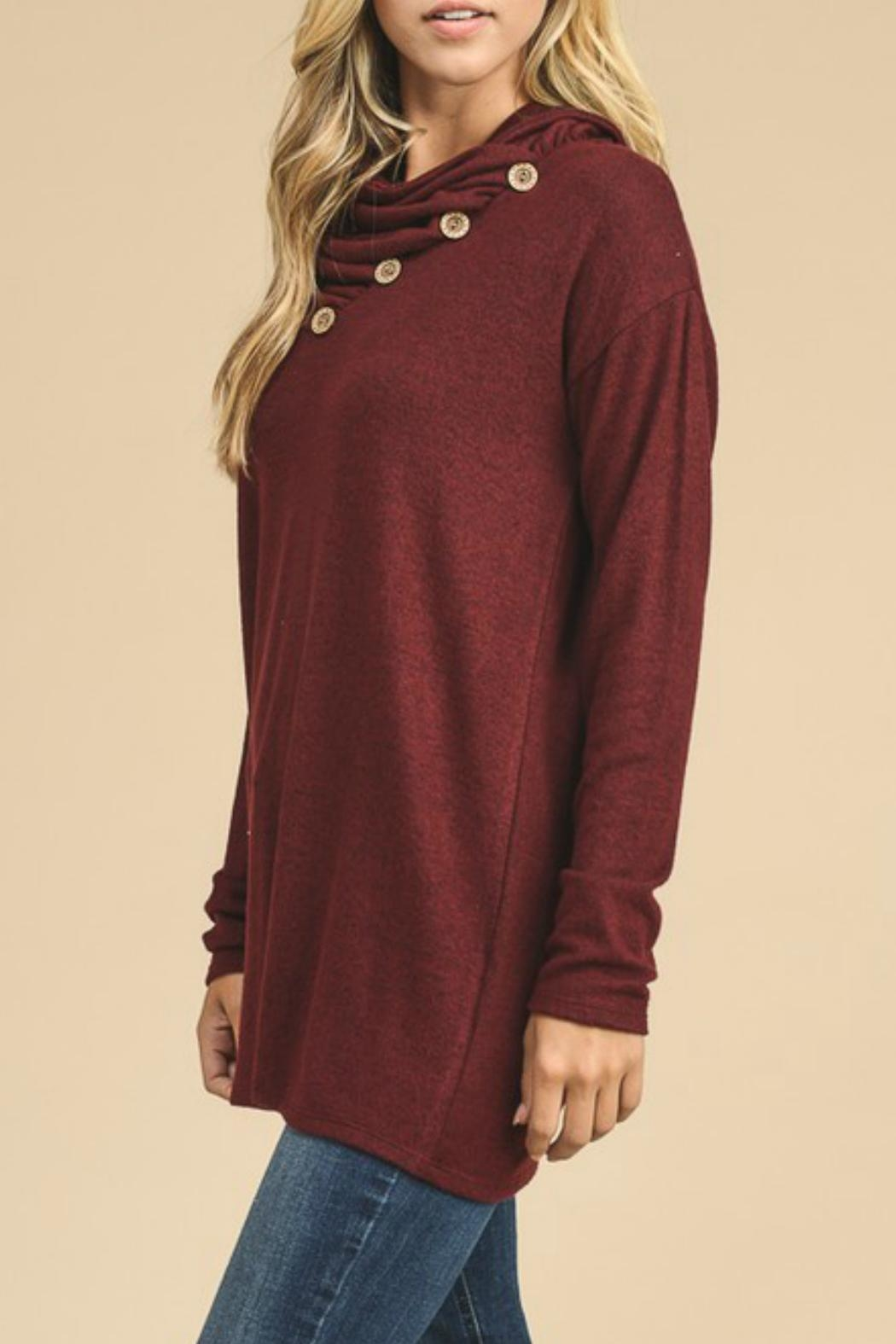 vanilla bay Button-Detail Tunic Top - Side Cropped Image