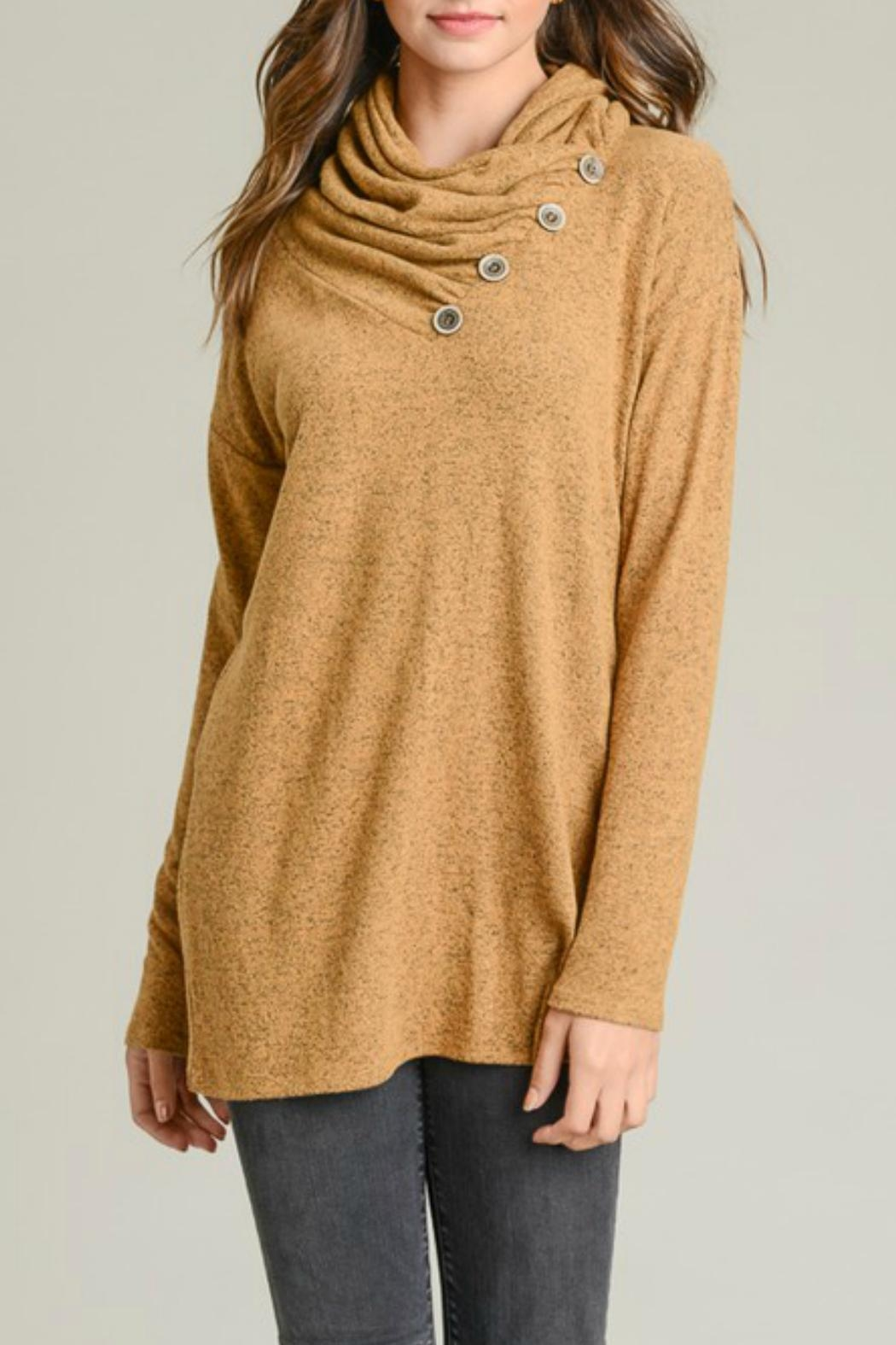 vanilla bay Button-Detail Tunic Top - Front Cropped Image