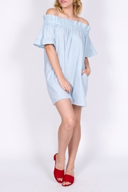 vanilla bay Denim Off Shoulder Dress - Product Mini Image