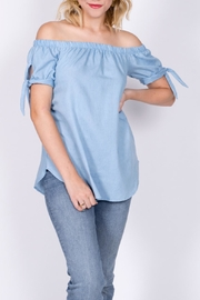 vanilla bay Denim Off-The-Shoulder Top - Product Mini Image