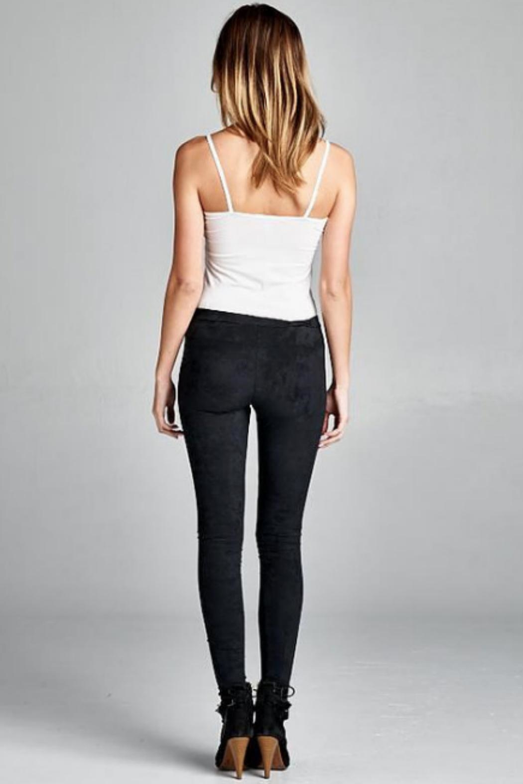 vanilla bay Faux Suede Leggings - Front Cropped Image