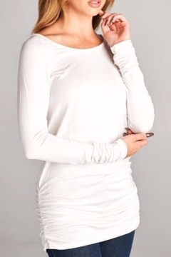 vanilla bay Ivory Cinched Tunic - Product List Image