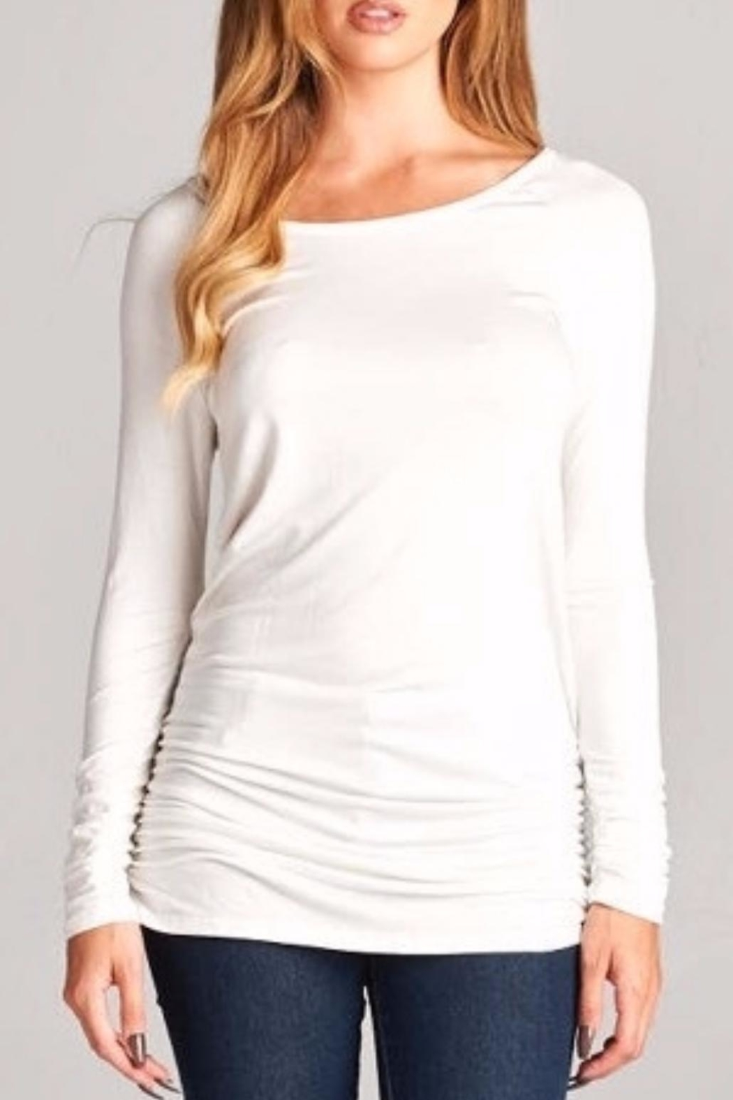 18decf4405a36 vanilla bay Ivory Cinched Tunic from Chicago by Chic Boutique ...