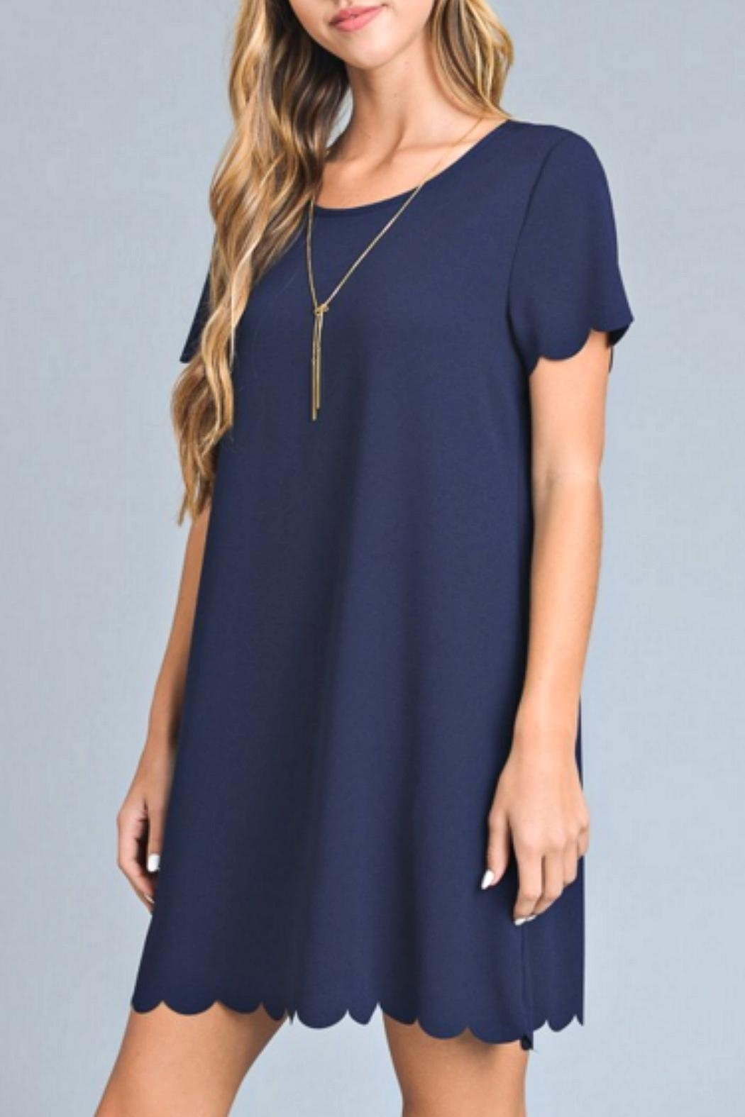 41967e4812cfc vanilla bay Navy Scalloped Dress from Kentucky by Izzie's Boutique ...