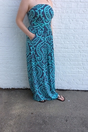 vanilla bay Printed Strapless Maxi - Product Mini Image
