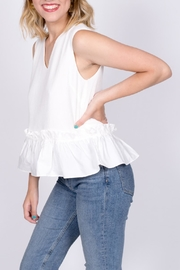 vanilla bay Ruffle Hem Top - Front full body