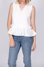 vanilla bay Ruffle Hem Top - Front cropped