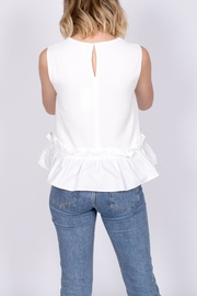 vanilla bay Ruffle Hem Top - Back cropped