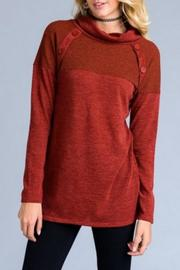 vanilla bay Rust Tunic Sweater - Product Mini Image