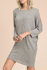 vanilla bay Sweater Midi Dress - Front cropped