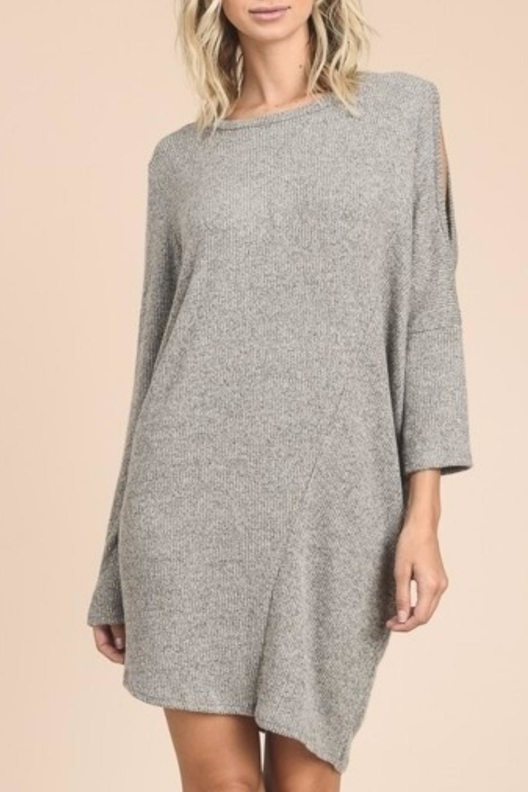 vanilla bay Sweater Midi Dress - Side Cropped Image