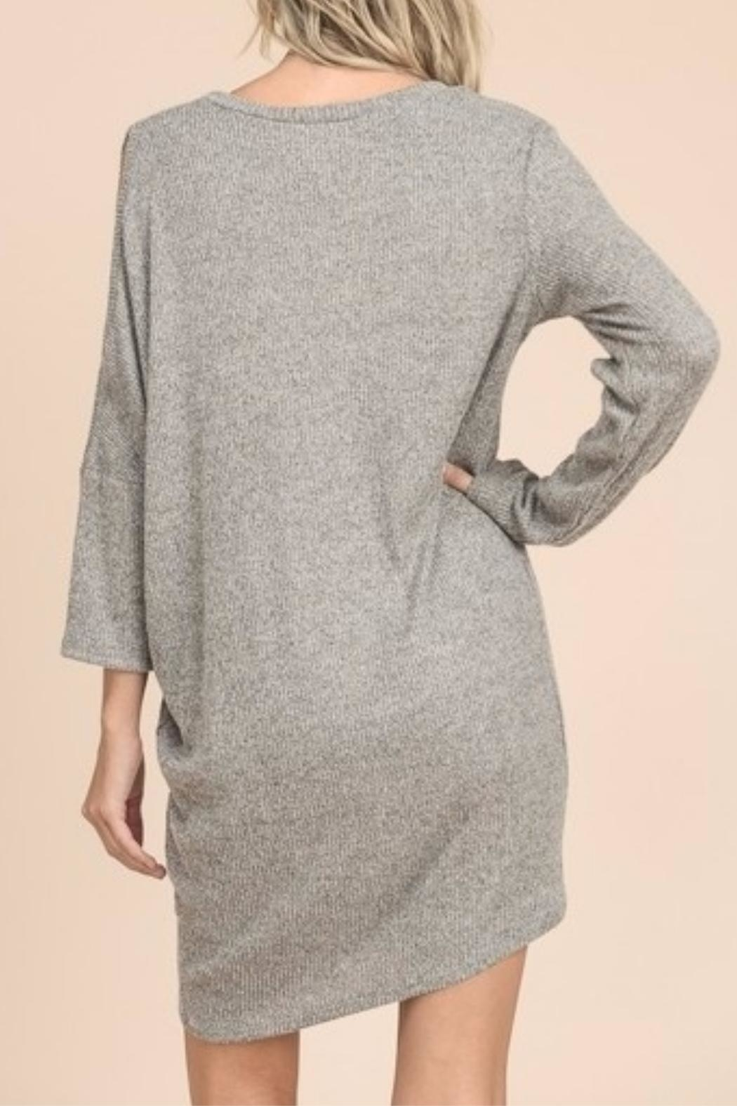 vanilla bay Sweater Midi Dress - Back Cropped Image