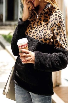 Vanilla Monkey Cozy Leopard Pullover - Product List Image