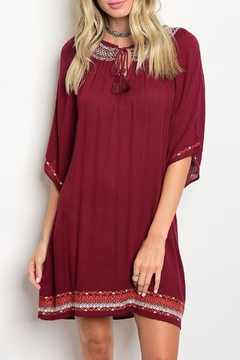 Shoptiques Product: Embroidered Boho Dress