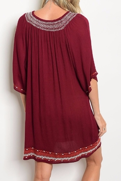 Vanilla Monkey Embroidered Boho Dress - Alternate List Image