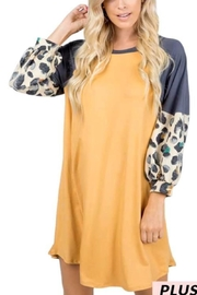 Vanilla Monkey Mustard Animal-Print Dress - Product Mini Image