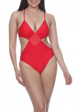 Vanilla Monkey Red Triangle Swimsuit - Product List Image