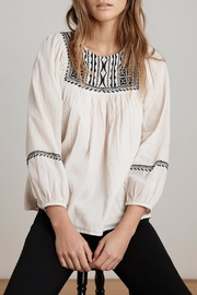 Velvet Vanna Embroidered Top - Product Mini Image